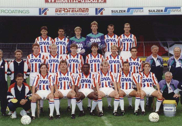 Teamfoto van Willem II in 1991