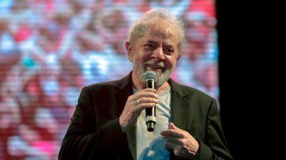 """Pas vrijgelaten Braziliaanse oud-president Lula roept menigte op """"strijd voort te zetten"""""""