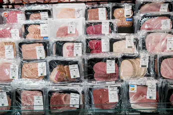 Vleeswaren bij Albert Heijn. Afbeelding ter illustratie.