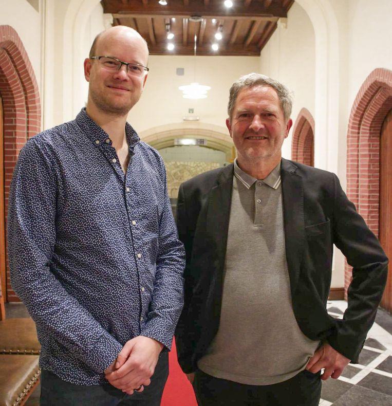 Chris Wauman en Jef Maes van de PVDA.