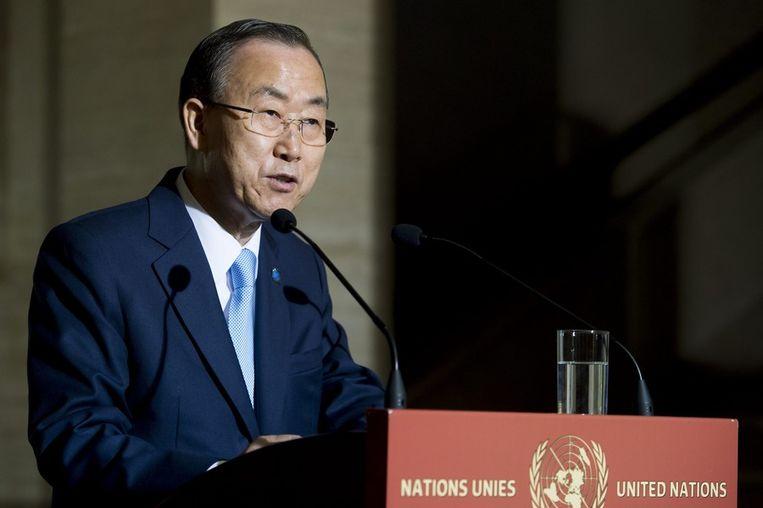 Secretaris-generaal van de Verenigde Naties Ban Ki-moon. Beeld null