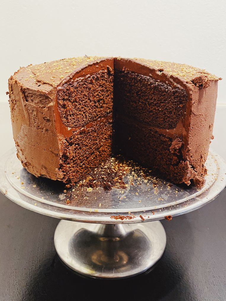 Ganache-chocoladetaart Beeld Yvette van Boven