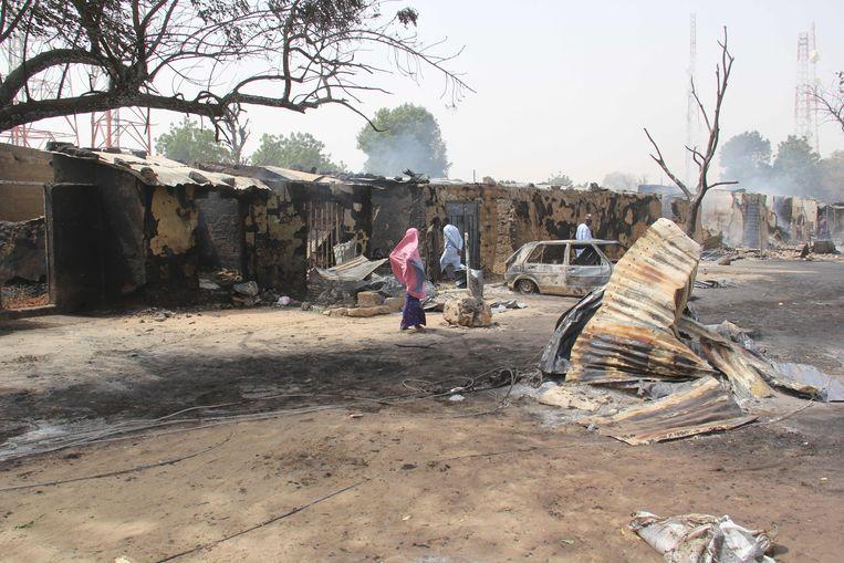 Jihadisten hebben ten minste dertig mensen gedood in het noordoosten van Nigeria. Beeld AFP