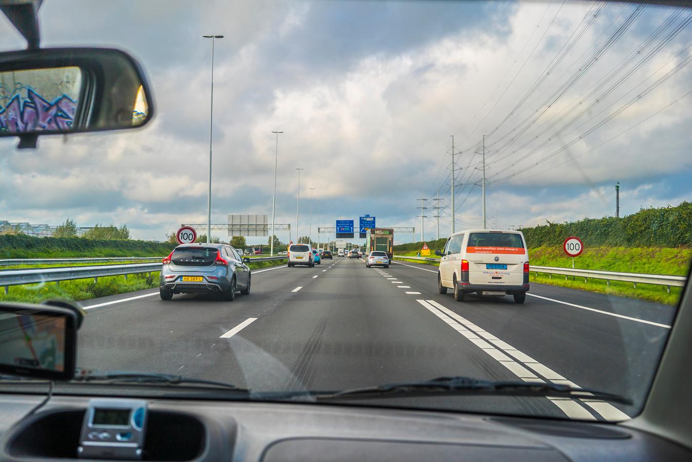 Midden-Delfland bedong bij de aanleg van de A4 tussen Delft en Schiedam een snelheid van 100 km.
