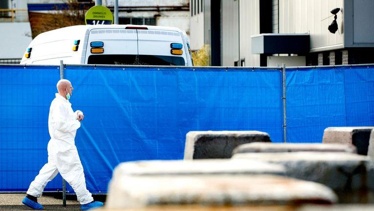 Onderzoek van de politie na de liquidatie op 29 maart in Amsterdam-Noord Beeld ANP