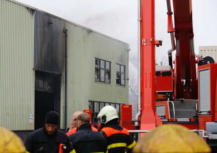 Schade aan het Faam-gebouw in Breda. Foto Marcel van Dorst - MaRicMedia