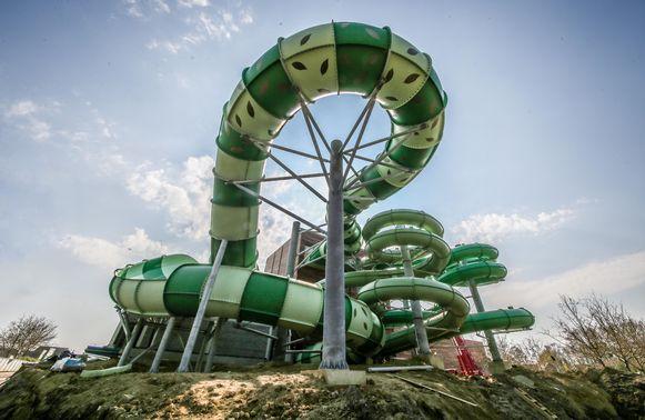 De constructie van Bellewaerde Aquapark is stilaan afgerond