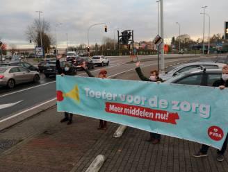 """""""Toeter voor de zorg"""": PVDA vraagt meer middelen voor zorgsector met actie aan rotonde"""