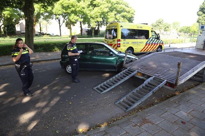 De vrouw raakte lichtgewond bij het ongeluk
