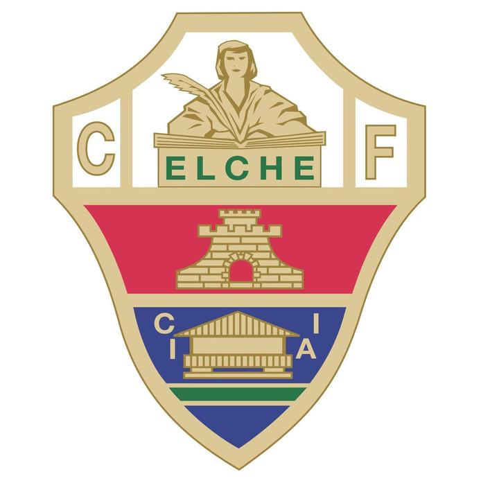 Het logo van voetbalclub Elche.