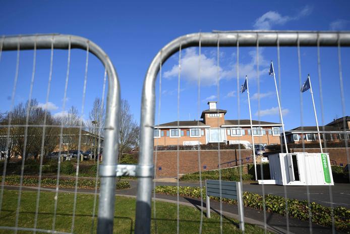 Le centre de Kents Hill Park à Milton Keynes (centre de l'Angleterre), l'un des deux hôpitaux désignés pour gérer les cas sensibles