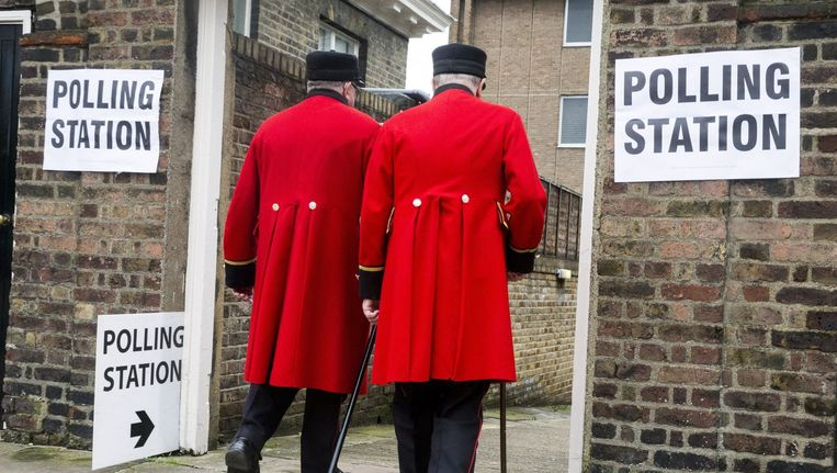 Brexit-stembureau in Londen. Beeld photo_news