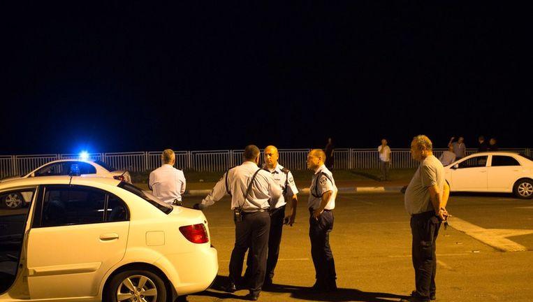 Politiemensen in Jaffa, ten zuiden van Tel Aviv. Beeld afp