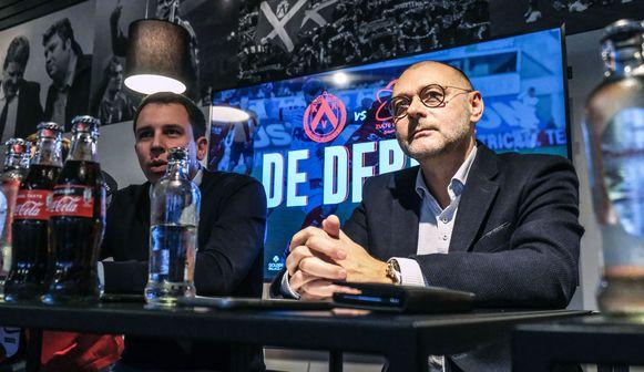 """Geen signalen van verhoogde agressiviteit"""": KV Kortrijk en Zulte Waregem roepen op tot positieve derby Club-CEO's Matthias Leterme en Eddy Cordier"""