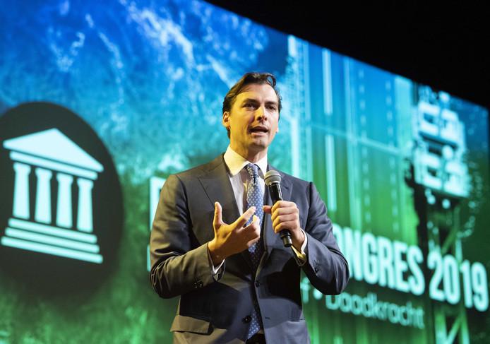 FVD-voorman Thierry Baudet tijdens het vierde partijcongres van Forum voor Democratie afgelopen november in Barneveld.