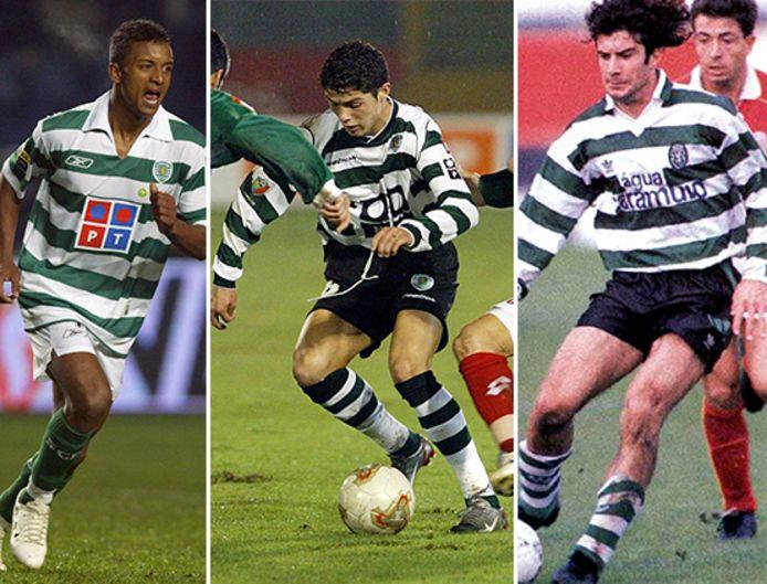 Nani, Cristiano Ronaldo en Figo.