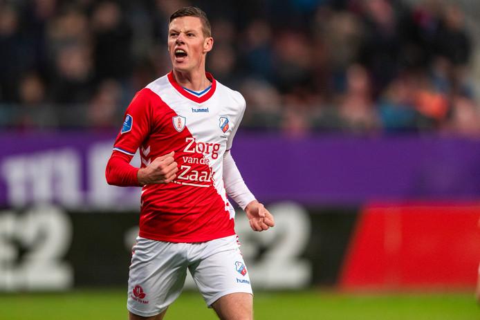 Nick Venema heeft zojuist de 5-0 gemaakt tegen De Graafschap.