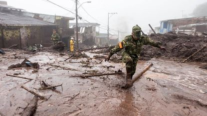 Delphine maakt modderstroom Colombia van dichtbij mee