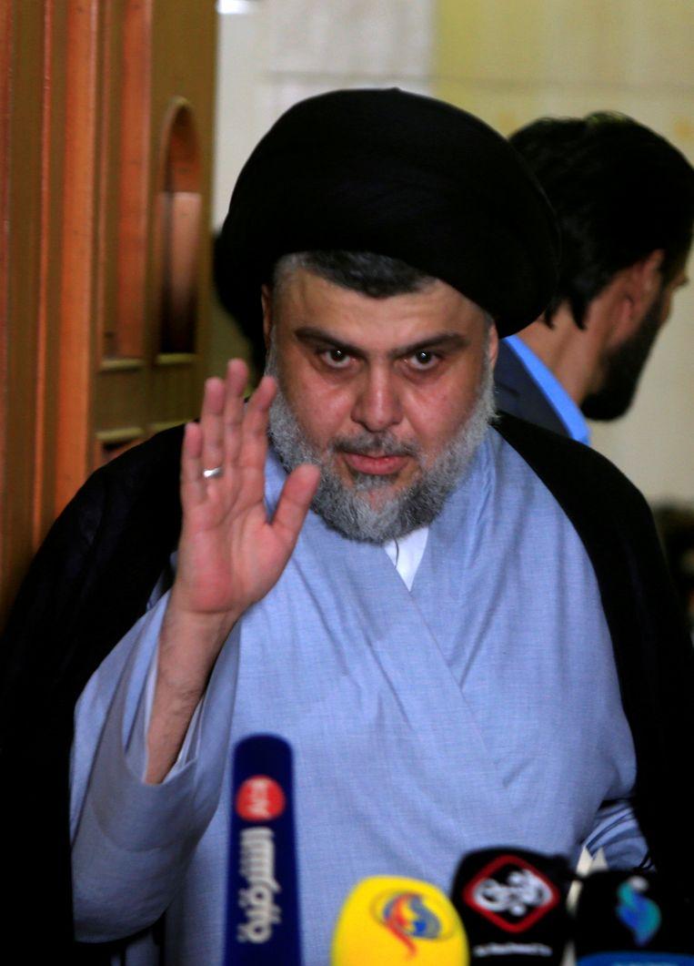 De sjiitische geestelijke Moqtada al-Sadr.