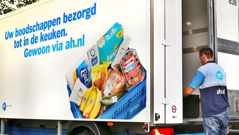 Vooral de populariteit van thuisbezorging via ah.nl zou volgens Albert Heijn stijgen. Beeld anp