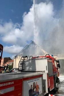 Incendie dans une carrosserie à Schaerbeek: les enfants priés de rester à l'intérieur