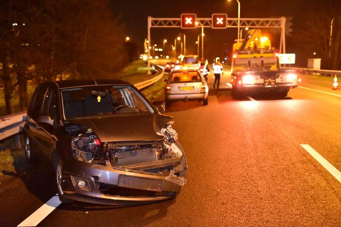 Ongeluk bij knooppunt Rijnsweerd Utrecht.