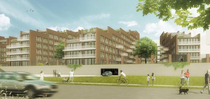 Impressie appartementencomplex Belvédère, gezien vanaf de Vlijmenseweg