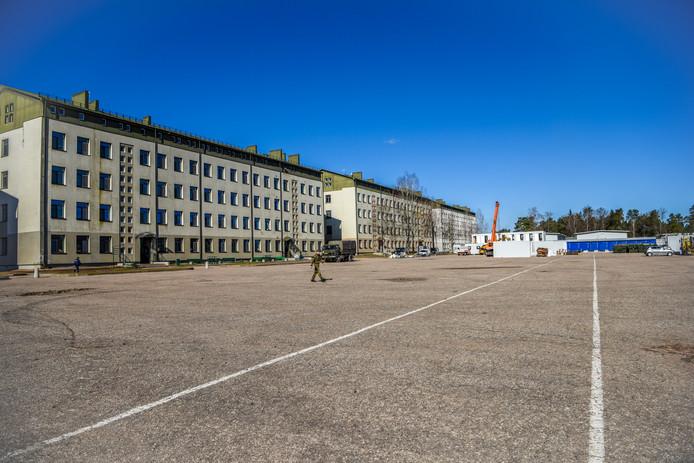 De kazerne in Rukla in Litouwen.