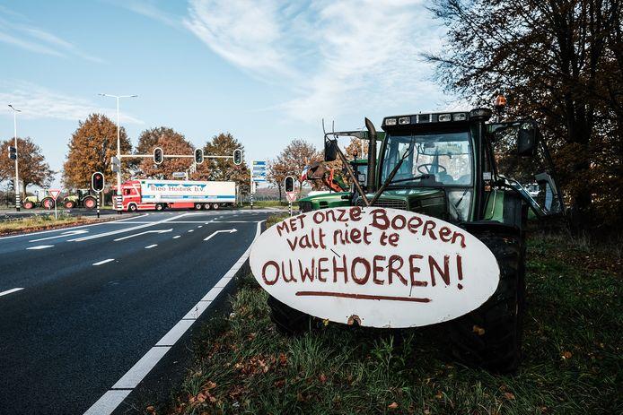 Boerenprotest in Varsseveld.