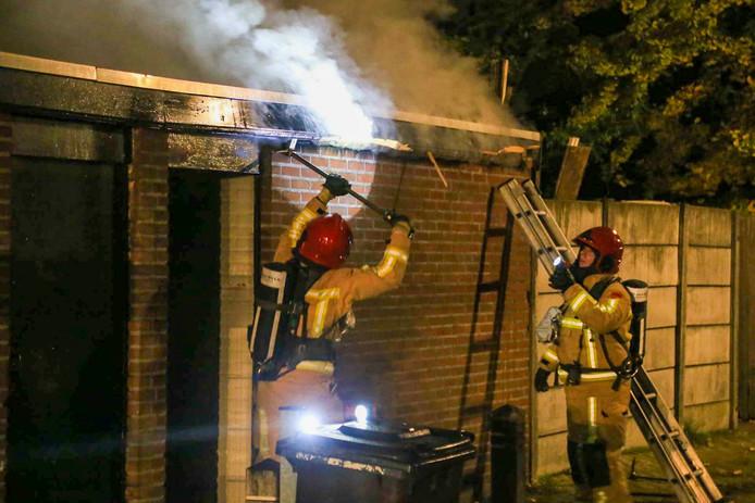 Brand in een schuur aan de Wolfstraat