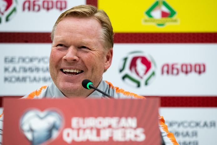 Ronald Koeman als bondscoach van Oranje.