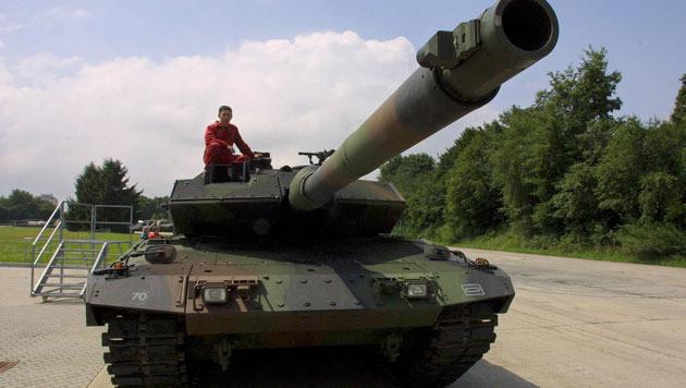 Een Leopard 2-tank