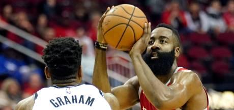 Puntenregen Harden helpt Rockets niet aan winst