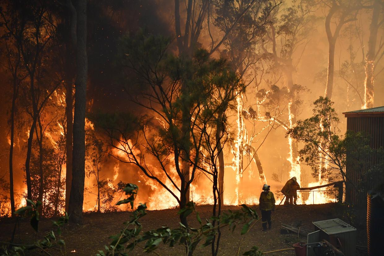 Bosbranden vlakbij Sydney.