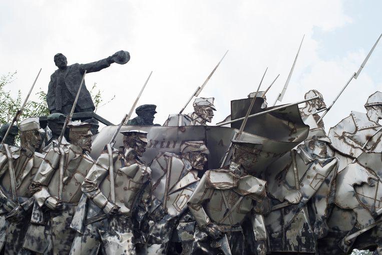 Het Mementopark in Boedapest is een openluchtmuseum met monumentale standbeelden.  Beeld NurPhoto via Getty Images
