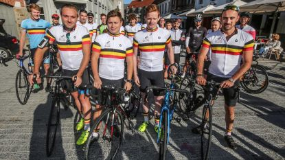 Vier vrienden fietsen Belgische grens af voor goed doel