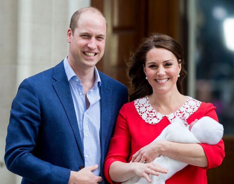 William en Kate met zoontje Louis.