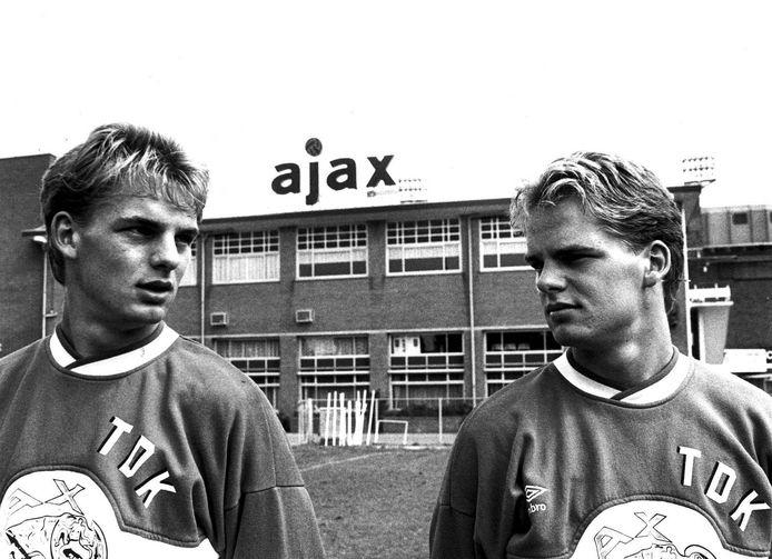 1986: Frank en Ronald (links) de Boer gefotografeerd voor De Meer.