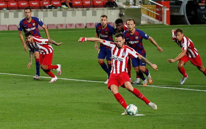 Het regende penalty's bij Barcelona tegen Atlético. Van de drie moest er ook nog eentje over worden genomen.