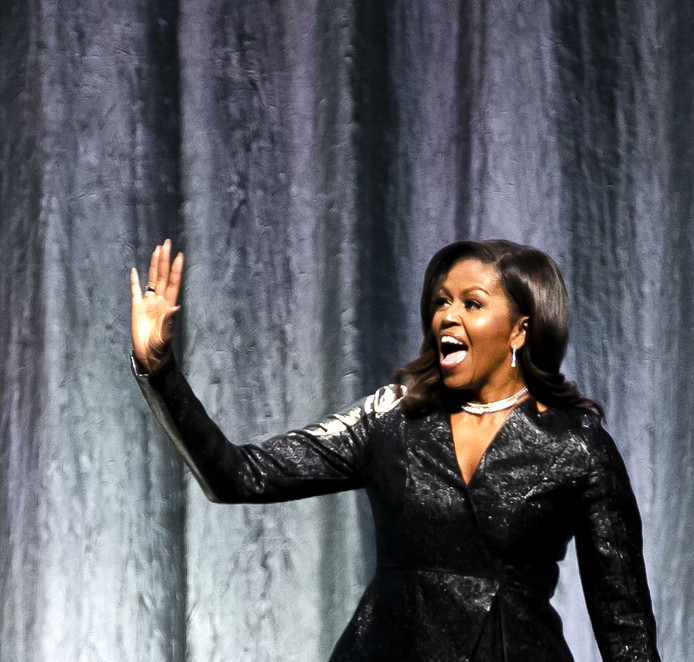 Michelle Obama Windt Ziggo Dome Om Haar Vinger