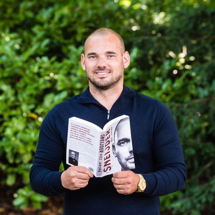Wesley Sneijder tijdens de boekpresentatie van 'Sneijder'