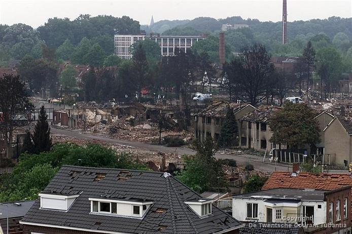 Het rampgebied op het Roombeek in 2000