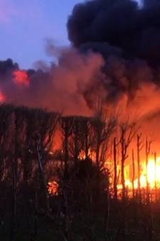 Evacuatie vanwege grote brand Kapelle