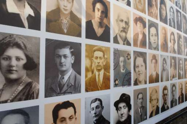 Portretten van Joodse mensen die vanuit de Mechelse Dossinkazerne werden weggevoerd. (Archieffoto)