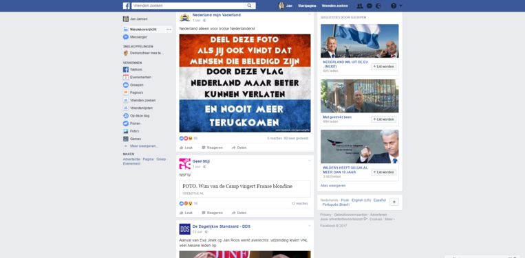 null Beeld Screenshot Thomas' Facebook