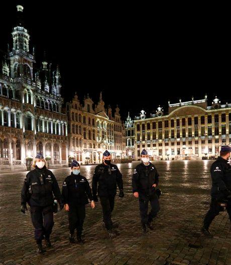 Moins de 100 PV à Bruxelles pour la première nuit du couvre-feu