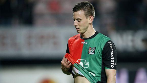 Marnick Vermijl degradeerde vorig seizoen met het Nederlandse NEC naar de tweede klasse.