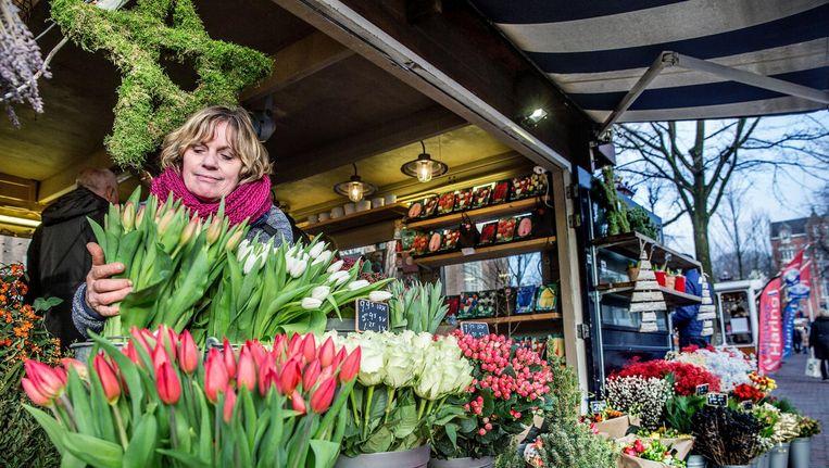 Jolanda Evers-Kroet mag nog zeker vijf jaar op de Westermarkt blijven staan Beeld Jean-Pierre Jans
