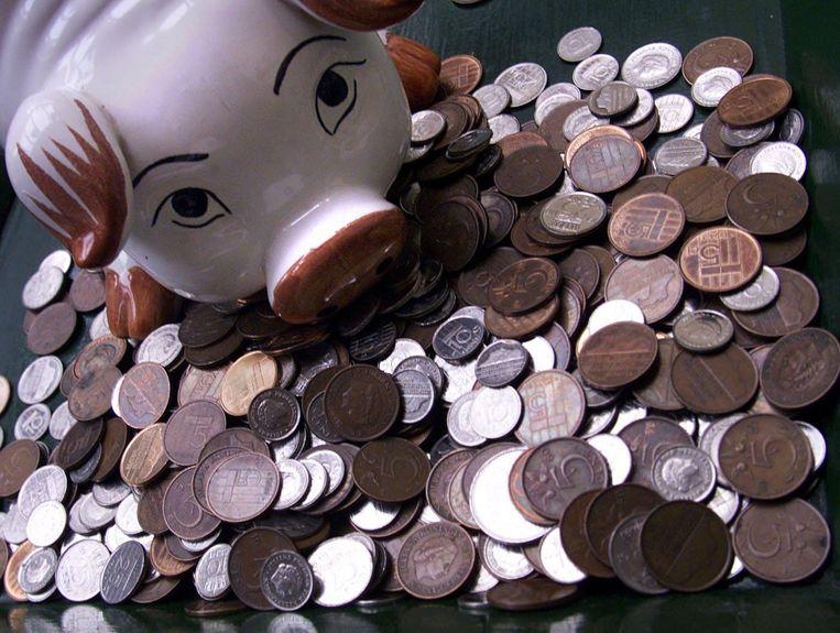 Gespaard geld in guldens.  Beeld ANP