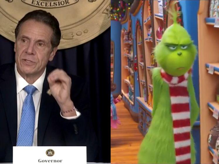 Is Covid de Grinch? Volgens de gouverneur van New York zijn de gelijkenissen alvast treffend